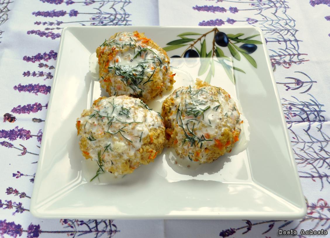 Kotleciki dorszowe z sosem koperkowo-cytrynowym