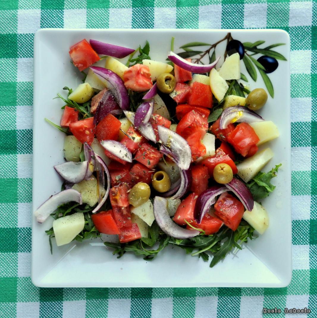 Sałatka ziemniaczana z sałatą