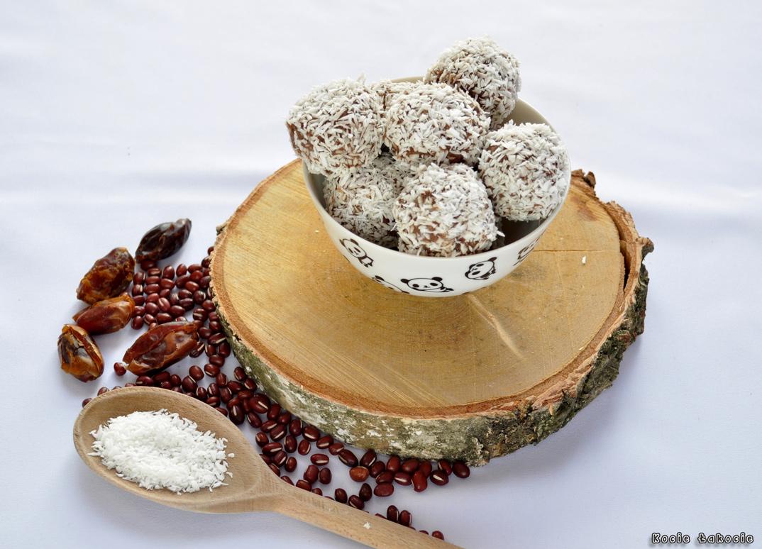 Kokosowe kulki z fasoli adzuki