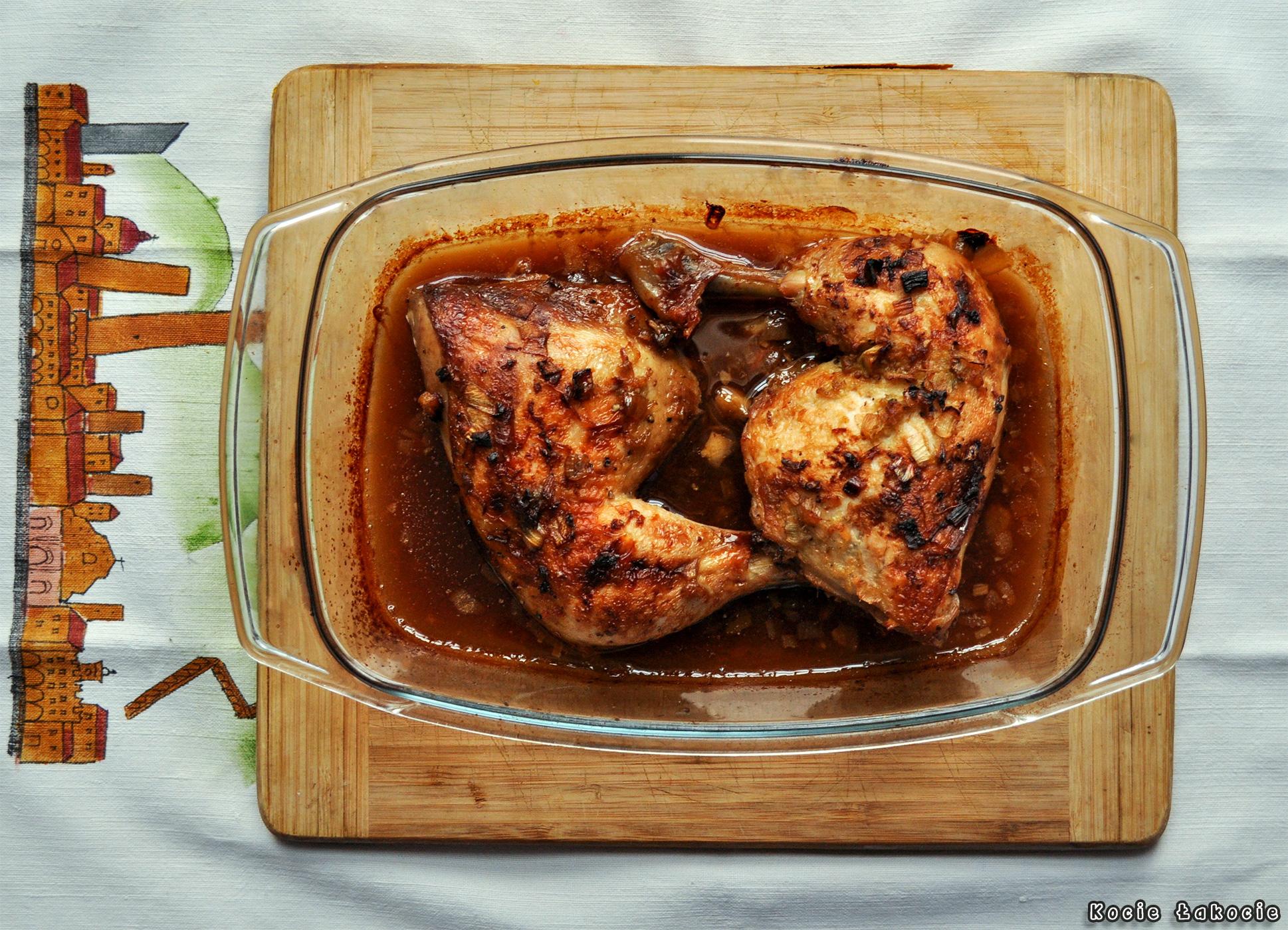 Kurczak miodowo-imbirowy z whisky