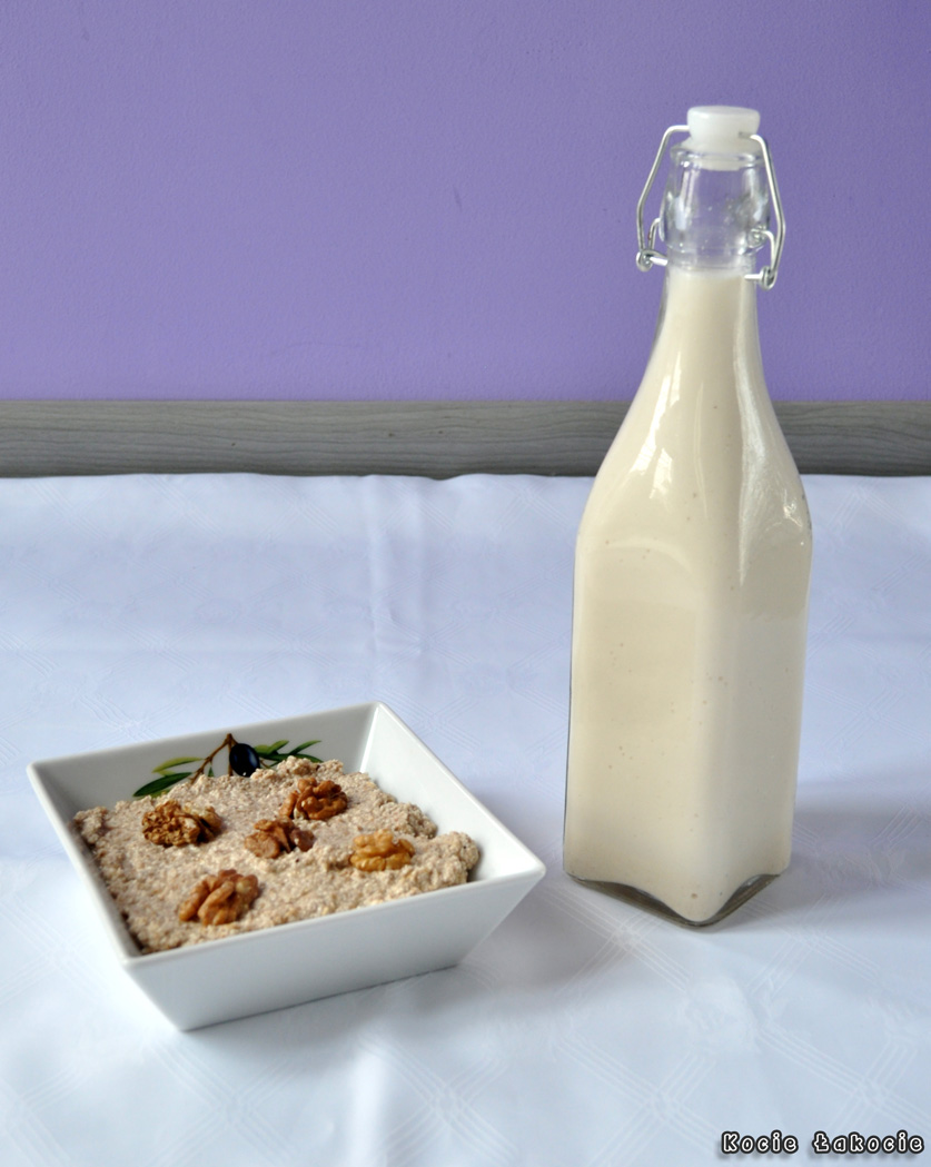 Roślinne mleko i twarożek