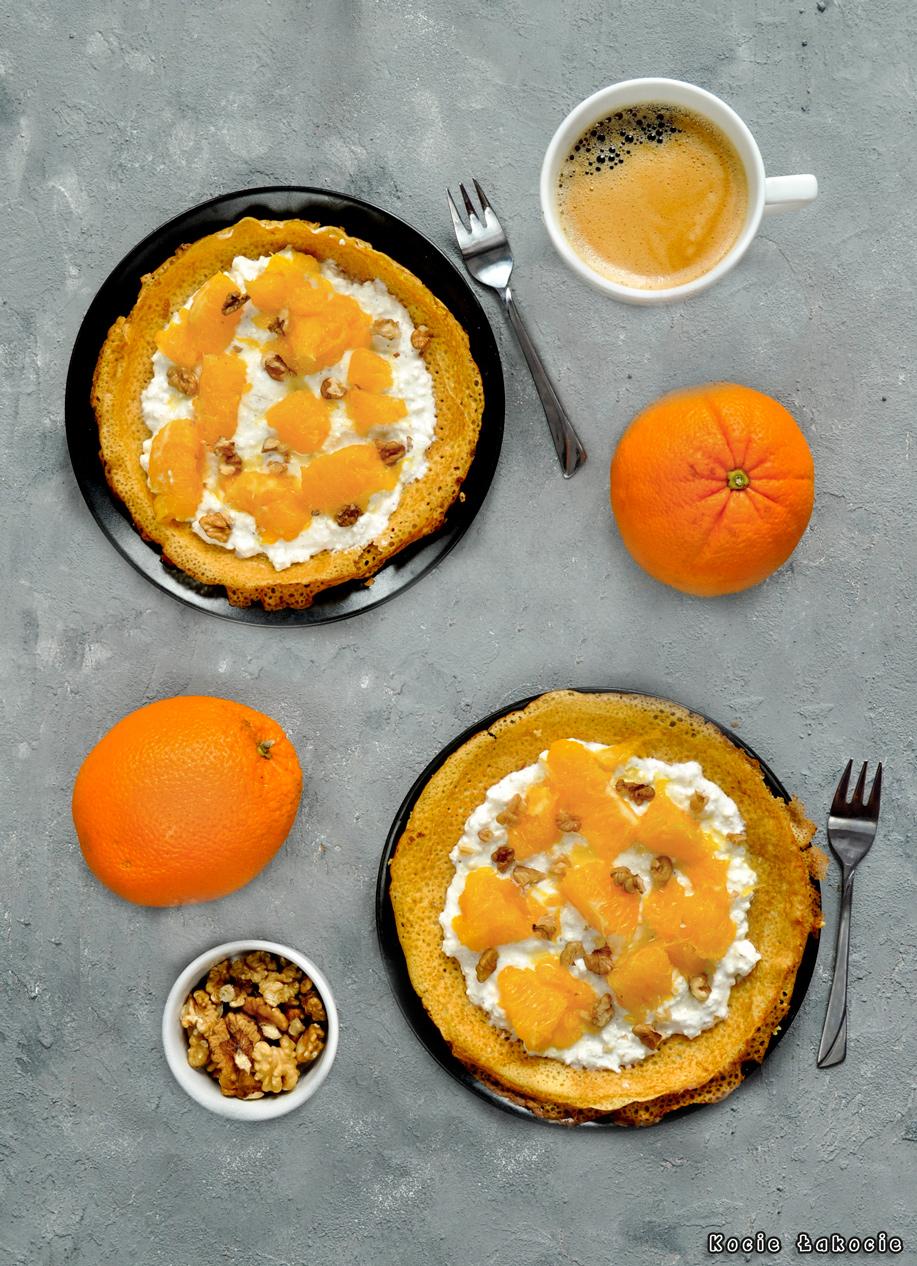Naleśniki z karmelizowaną pomarańczą