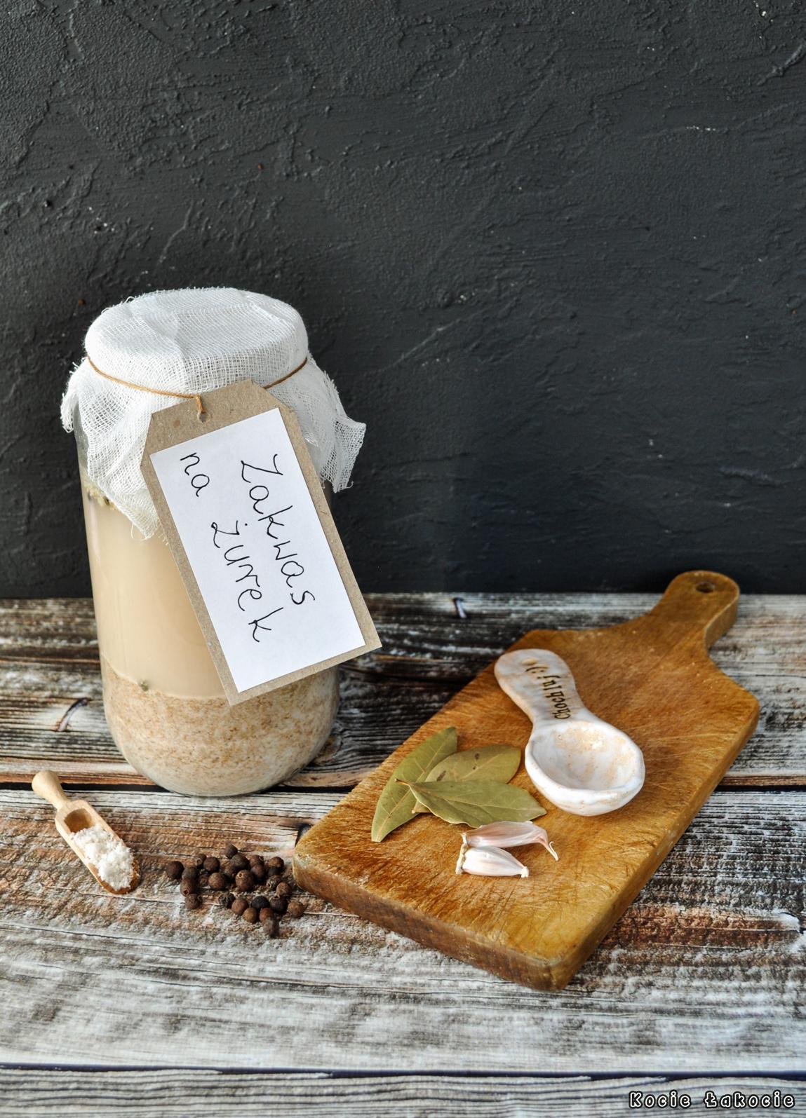 Zakwas na żurek (z zakwasu chlebowego)