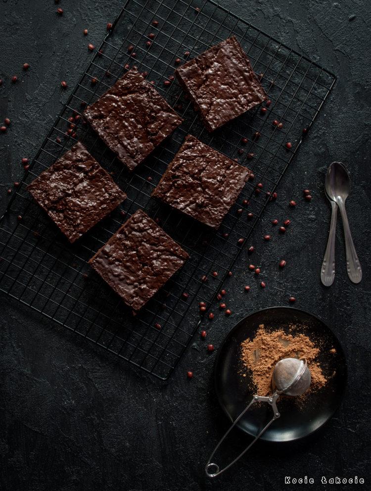 Wegańskie brownie z fasoli