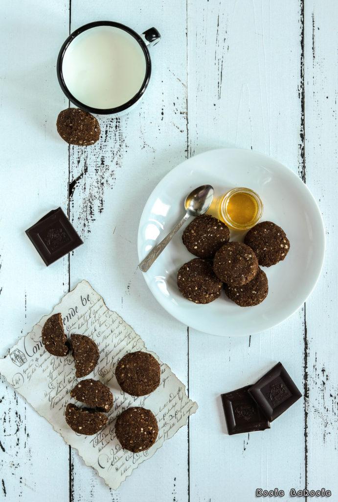 Ciasteczka czekoladowo-jaglane