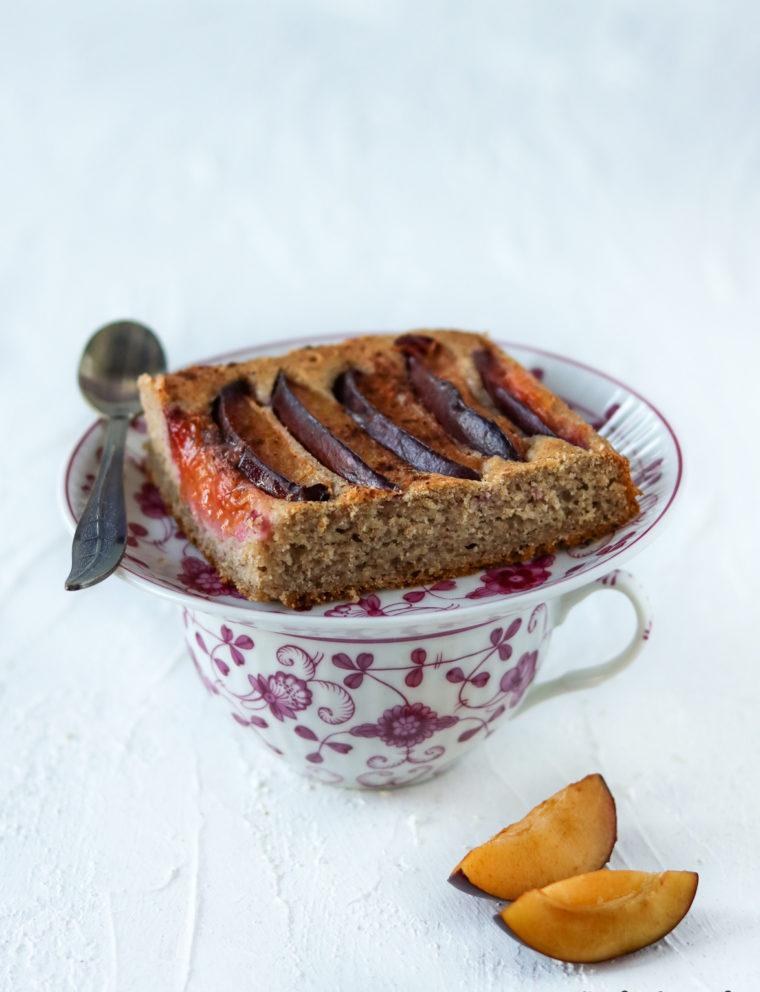 ciasto ze śliwkami bez cukru