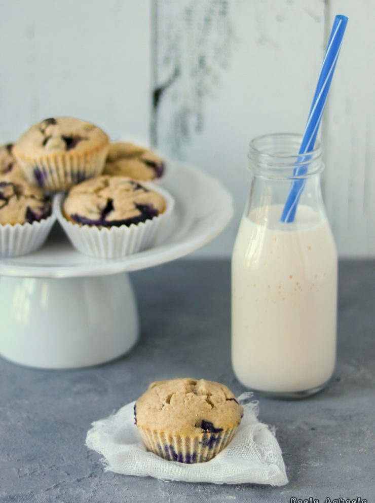 muffinki z borówkami