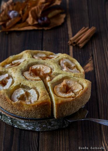 Dyniowe ciasto z jabłkami (bez glutenu i bez cukru)