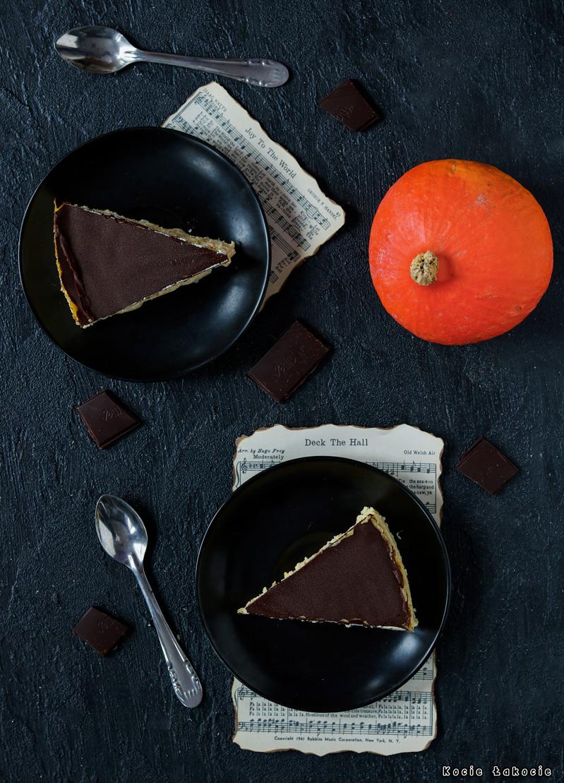 sernik dyniowy z czekoladą