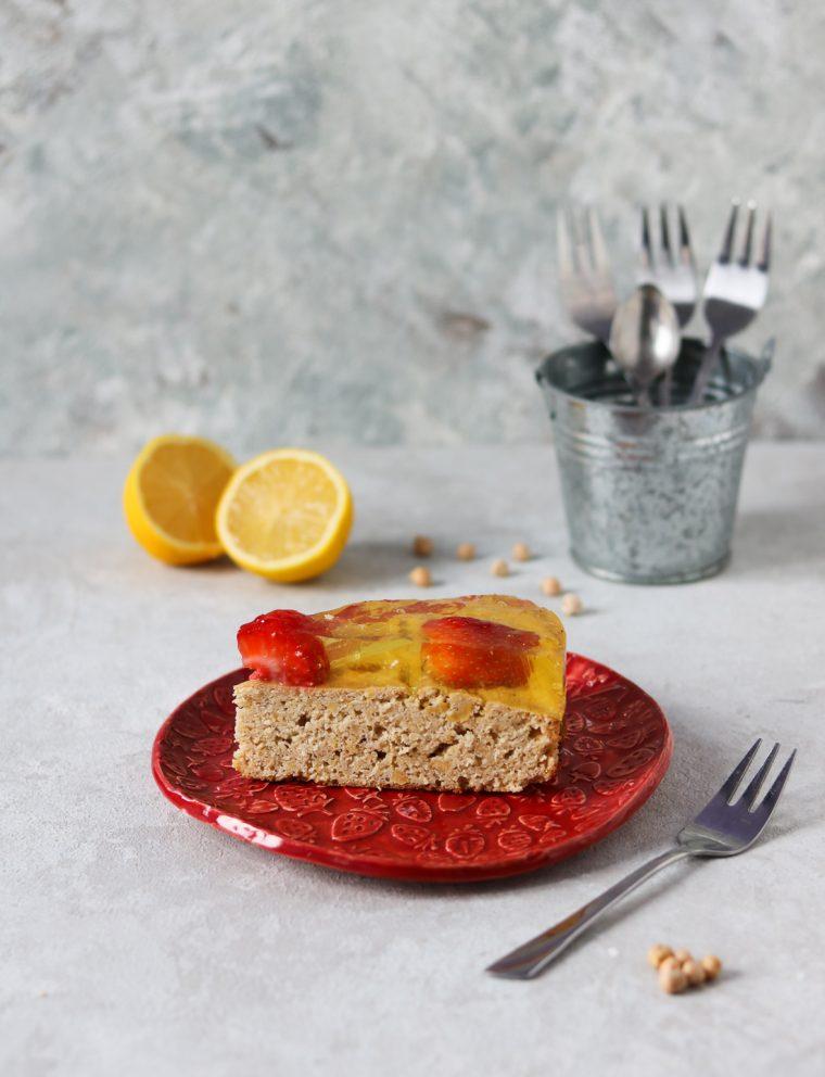 cytrynowe ciasto z ciecierzycy
