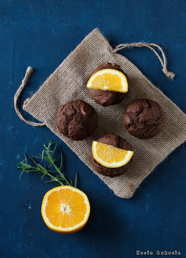 Muffinki karobowe z pomarańczą